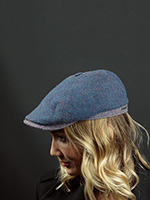 Кепка STETSON арт. 6640502 6-PANEL HERRINGBONE (синий)